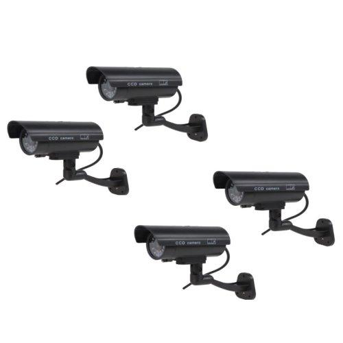 4pk Kabalo Realistic Dummy CCTV Security Cameras With Flashing LED Light