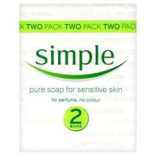 2pk Simple Pure Soap for Sensitive Skin - 125g