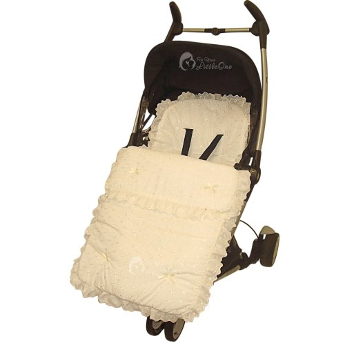 Broderie Anglaise Footmuff / Cosy Toes/Cosy Toes Fit Buggy Pushchair Baby Cream