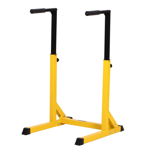 HOMCOM Dip Station Chin Up Parallel Bars Pull Up Power Tower Home Gym Workout