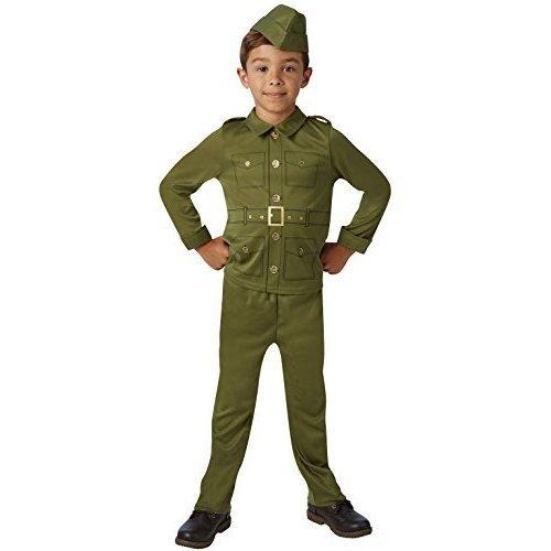 Girls WW2 Army Costume Childs World War II Uniform Fancy Dress Book Week Outfit