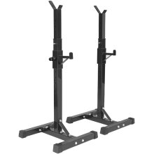Adjustable Squat Rack Bar Barbell Stand Black Heavy Duty Power Weight Support Spotter GYM Fitness Power Rack Holder Bench