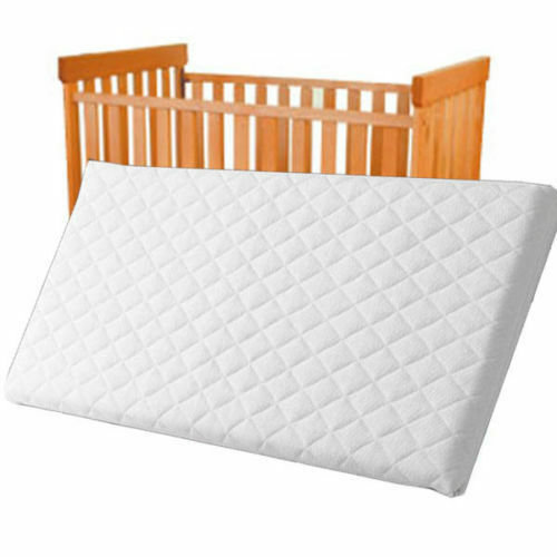 Extra Thick Travel Cot Mattress Fully Breathable Mattress With Quilted Cover