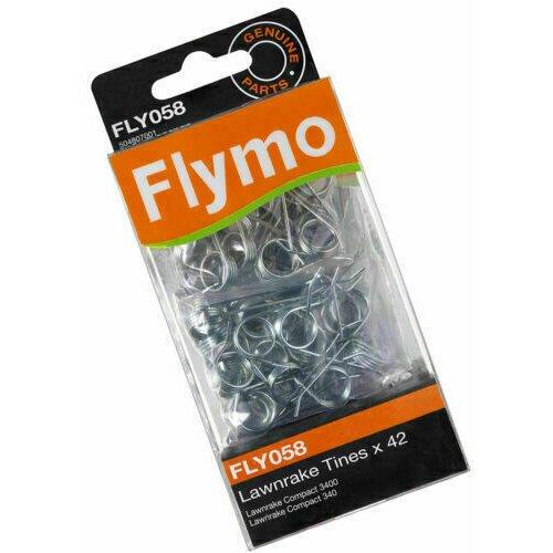 GENUINE FLYMO LANRAKE COMPACT 340 3400 LAWN RAKE TINES SCARIFIER x 42 FLY058