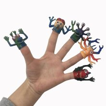 5pcs Funny Fidget Toy Tpr Monsters Finger Doll Stress Reliever