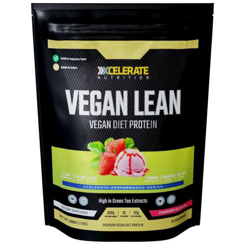 XCelerate Nutrition Vegan Diet Protein 500g Strawberry