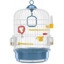 birdcage Regina 32,5 x 49 cm steel blue/white