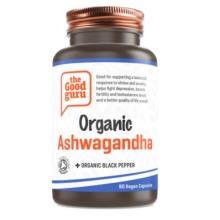 Organic Ashwagandha + Organic Black Pepper Supplement, Gluten-free