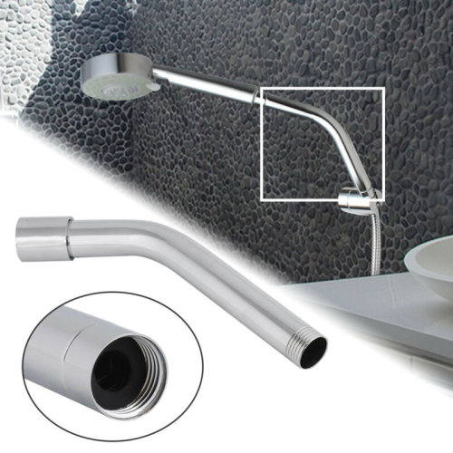 20CM/8inch Stainless Steel Shower Head Extension Pipe Arm Wall Mounted