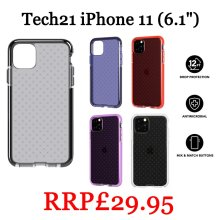 """Tech21 Evo Check Case Cover For iPhone 11 (6.1"""") New"""
