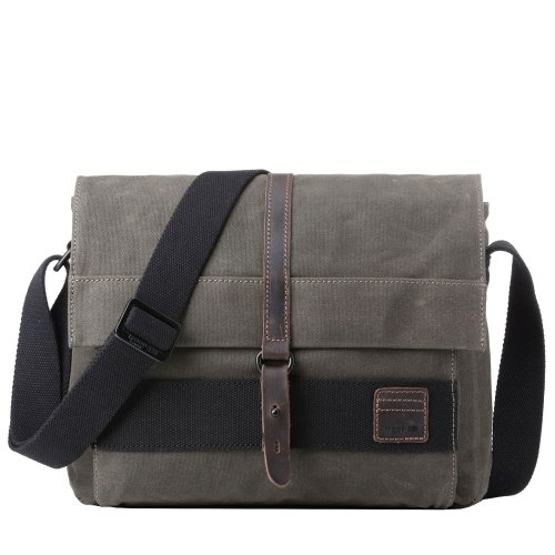 TRP0478 Troop London Classic Canvas Messenger Bag | Buy Bags Online | Canvas Messenger Bags | leather canvas backpack