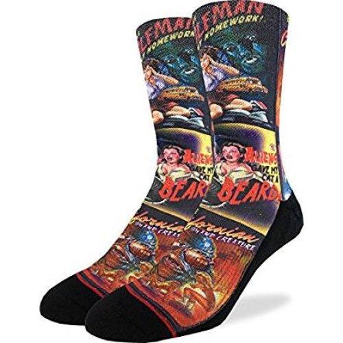 Socks - Good Luck Sock - Men's Active Fit - B-Movie Horror Posters (8-13) 4109