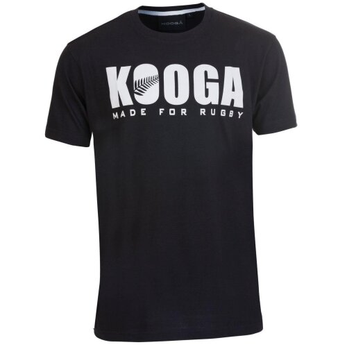Kooga Unisex's New Zealand International Rugby Logo T-Shirt-Black, Small