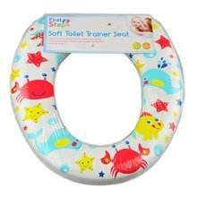 First Steps Soft Toilet Seat -  seat padded toilet soft trainer bathroom kids easy clean 2 design life