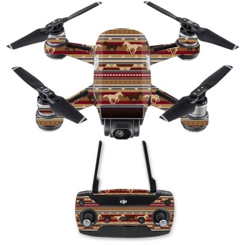 MightySkins DJSPCMB-Western Horses Skin Decal for DJI Spark Mini Drone Combo - Western Horses