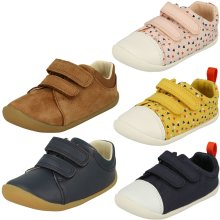 Childrens Boys Girls Clarks Pre-Walking Shoes Roamer Craft - G Fit