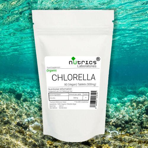 Nutrics® Organic CHLORELLA 500mg Tablets