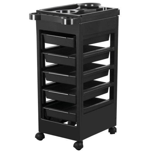5 drawer Monochrome Salon Hairdressing Beauty Storage Trolley