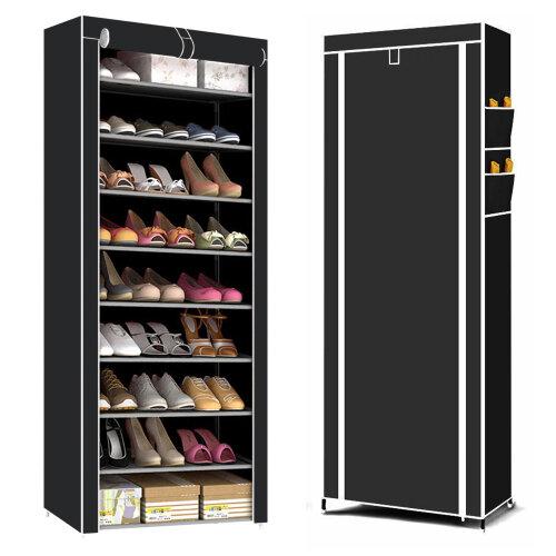 9-Tier Shoe Cabinet & Organiser | Dustproof Shoe Rack