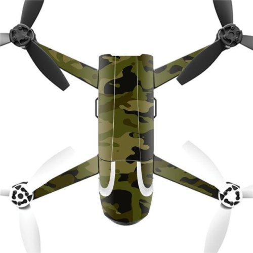 MightySkins PABEBOP2-Green Camouflage Skin Decal Wrap for Parrot Bebop 2 Quadcopter Drone - Green Camouflage