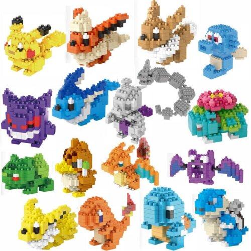 Pokemon Figures Diamond Building Blocks Pikachu