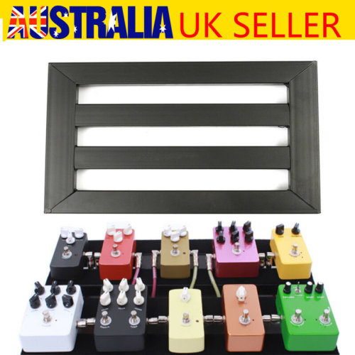 Alloy Pedalboards Effects Pedal Board Cases Electric Guitar + 10x Explant & Ties