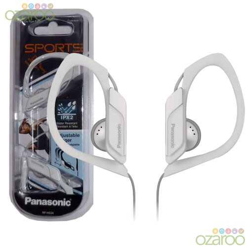 Panasonic Water/Sweat Resistant In Ear Sports Headphones - White
