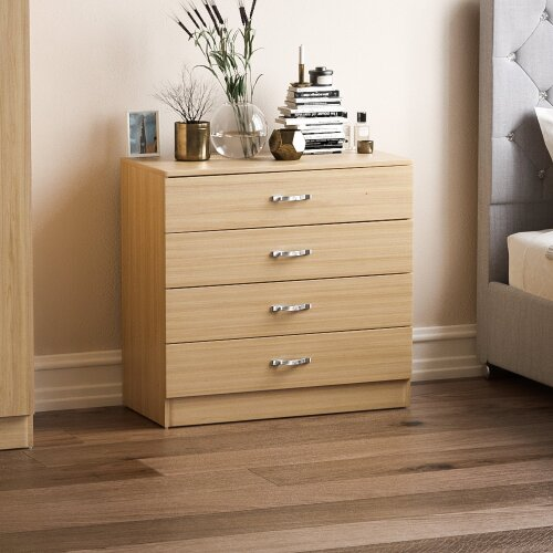 (Pine) Riano 4-Drawer Chest of Drawers