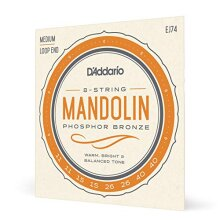 D'Addario EJ74 11-40 Medium Phosphor Bronze Mandolin String