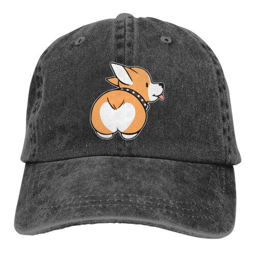 Corgi Butt Denim Baseball Caps