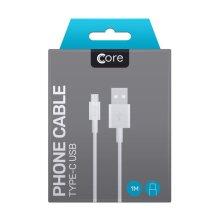 Core - Type C USB Cable - White - 1M