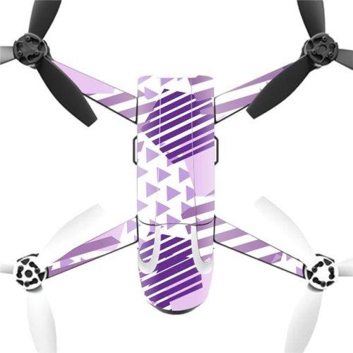 MightySkins PABEBOP2-Purple Pentagon Skin Decal Wrap for Parrot Bebop 2 Quadcopter Drone - Purple Pentagon