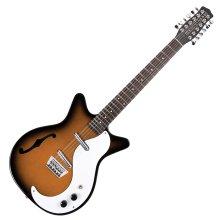 Danelectro DC59 12 String Electric Guitar, Tobacco Sunburst