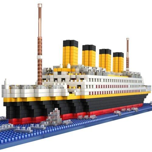 1860Pcs Titanic Shape Model Building Blocks Model Construction Kit