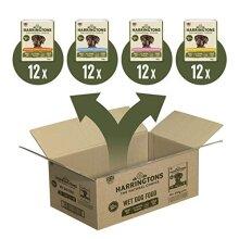 Harringtons Grain Free Wet Dog Food Mixed Flavours 48x400g