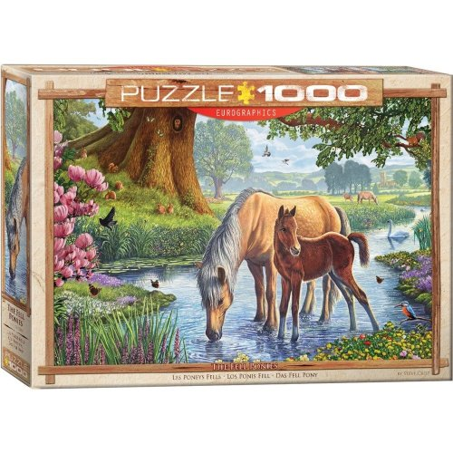 Eg60000976 - Eurographics Puzzle 1000 Pc - the Fell Ponies