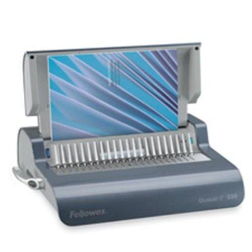 Electric Comb Binding Machine- 16-.88in.x15-.38in.x5-.13in.- Gray