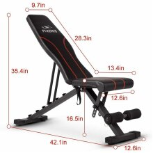 FLYBIRD Adjustable Foldable workout Weight Bench Incline/Decline