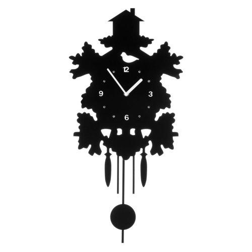 Tree House Pendulum Wall Clock, Black