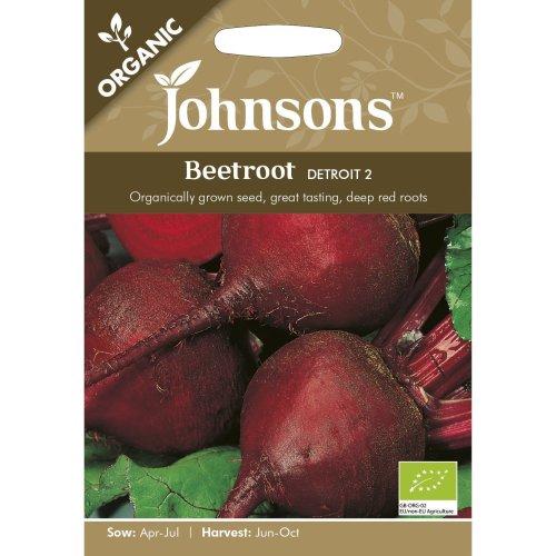 Johnsons Seeds - Pictorial Pack - Vegetable - Beetroot Detroit 2 (ORGANIC) - 275 Seeds