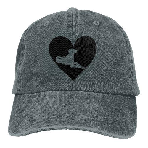 Black Love Rhodesian Ridgeback Denim Baseball Caps