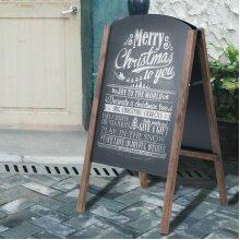 A-Board Frame Pavement Sign Free Standing Floor Chalkboard Cafe Shop