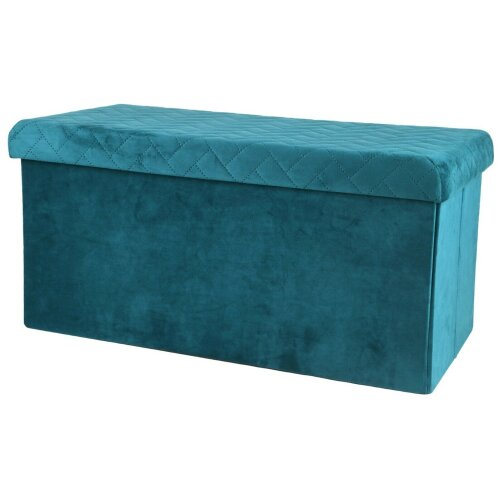 Ottoman Large Pouffe Storage Box & Seat up to 120kg Velvet Green