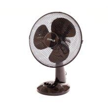 "Oypla Electrical 12"" 3 Speed Oscillating Black Electric Desk Home Office Fan"