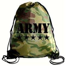 Camouflage Army drawstring bag, Swimming bag, Camping Bag