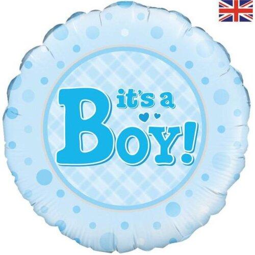 """Oaktree 18"""" Foil Balloon It's a Boy"""