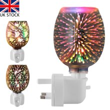 3D Electric Plug In LED Aroma Diffuser Lamps Burner Wax Warmer