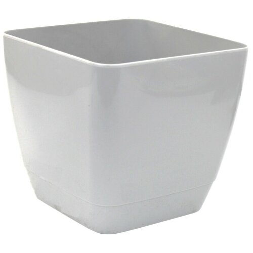 Set Of 4 Indoor Square Plant Pots 16cm Square Indoor Planters Grey