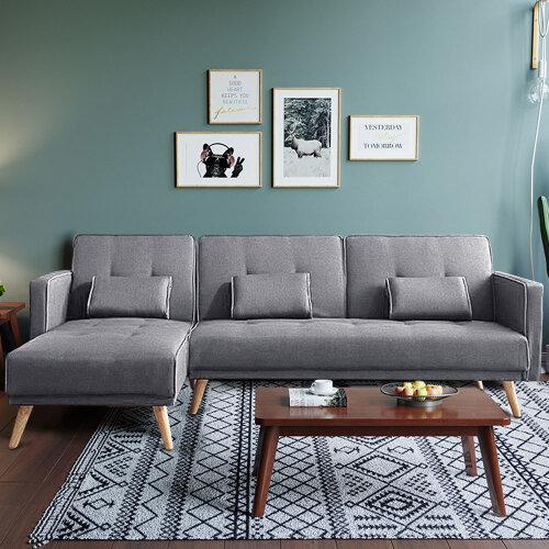Modern L Shape Recliner Sofa Bed Fabric Sofa bed Suite UK