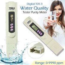 Digital TDS3 TEMP PPM TDS Meter Tester Pen Stick Water Quality Purity
